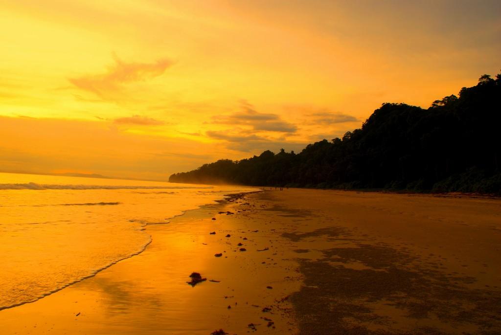 Radhanagar Beach during sunset , Andaman and Nicobar Islands