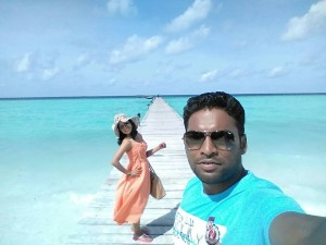 Mr and Mrs Aditya Shirsekar at Maldives