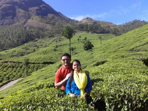 Our guests Mr and Mrs Omkar Paranjape at Munnar (Kerala)